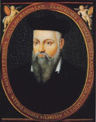 Nostradamus (1503-1566) schreef een boek vol cryptische kwatrijnen waarin, meestal achteraf, belangrijke gebeurtenissen werden afgeleid.