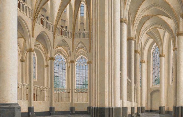 Interieur van de Grote Kerk in Harderwijk - Maarten 't Hart (Stadsmuseum Harderwijk)