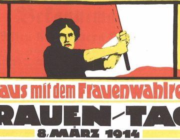 Poster voor Internationale Vrouwendag 1914