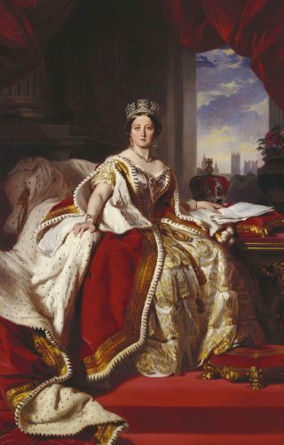 Victoria, geschilderd door Franz Xaver Winterhalter