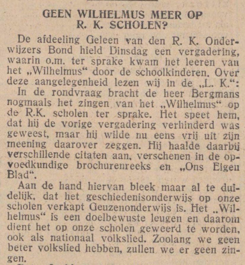 De Tijd, 9 november 1928 (Delpher)