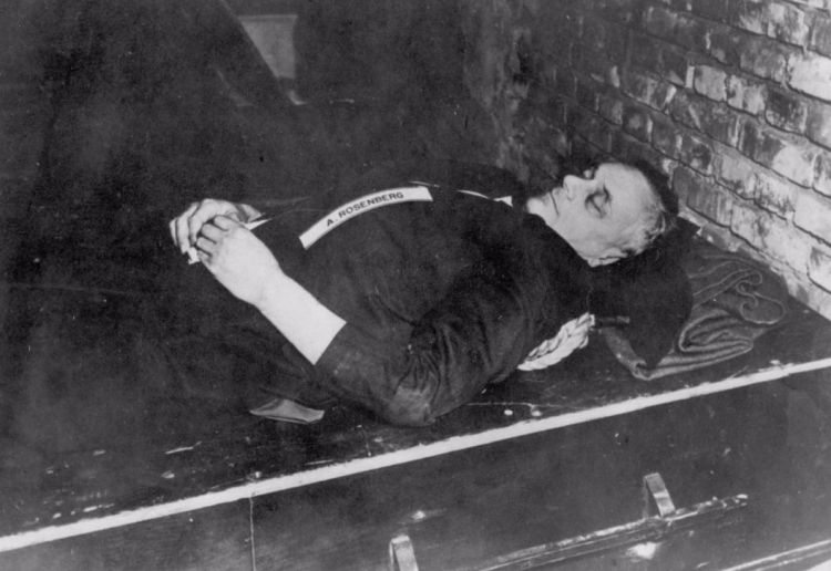 Alfred Rosenberg na zijn ophanging - cc