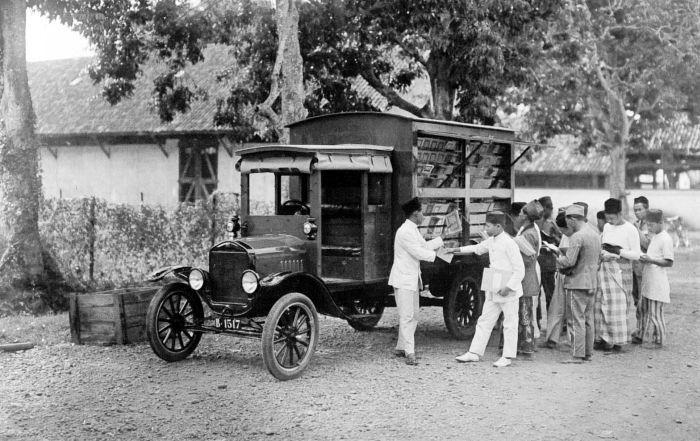 Boekmobiel uit Indonesië, begin 20e eeuw