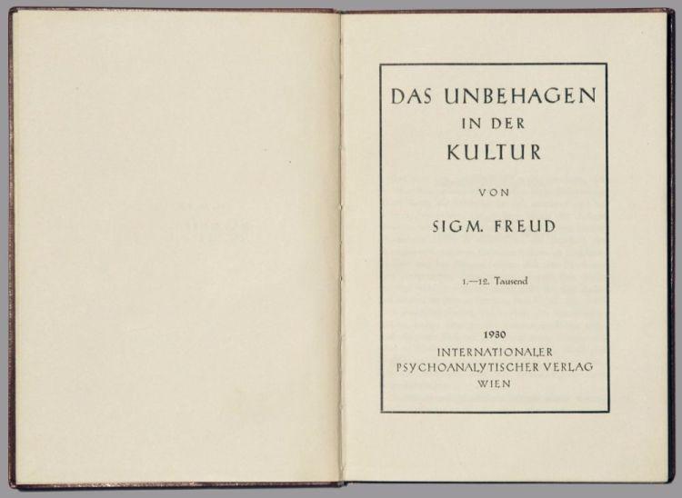Het onbehagen in de cultuur (1930) - Sigmund Freud