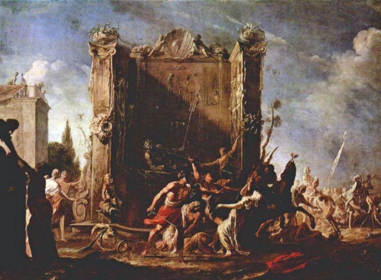 Sabijnse maagdenroof (Johann Heinrich Schönfeld; rond 1640)