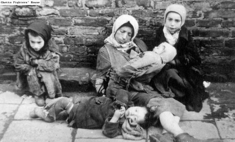 Kinderen in het getto van Warschau