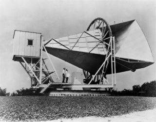 Het apparaat waarmee  Robert Wilson and Arno Penzias de 'ruis' ontdekten /cc