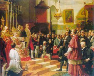 Inauguratie van de Cortes van Cádiz in 1810