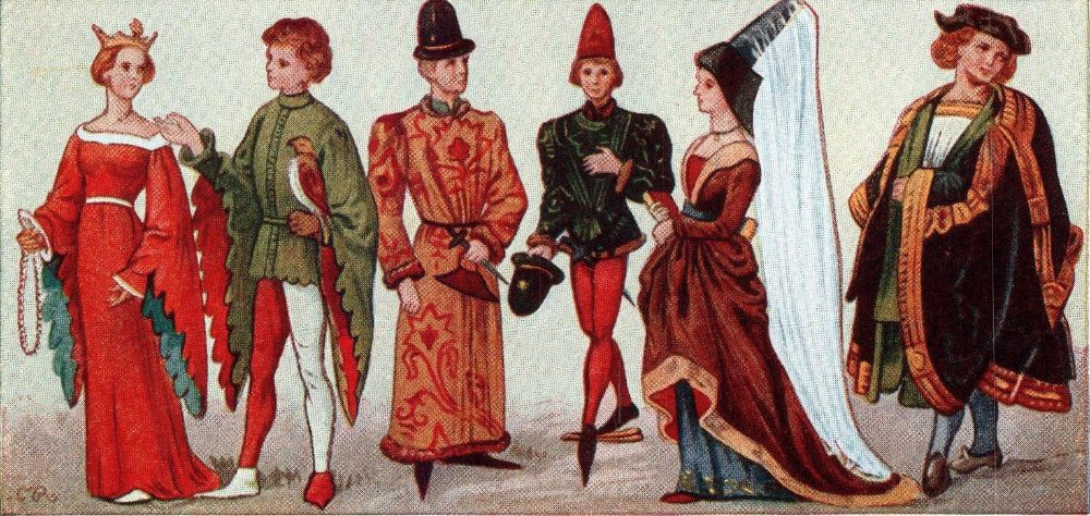 De geschiedenis van oude kleding
