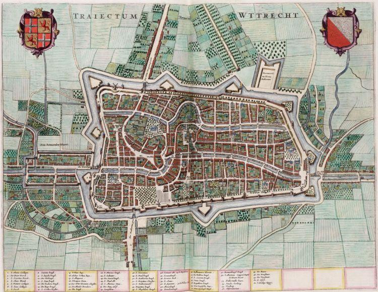 Kaart van Utrecht in de Atlas van Loon, 1649 (wiki)