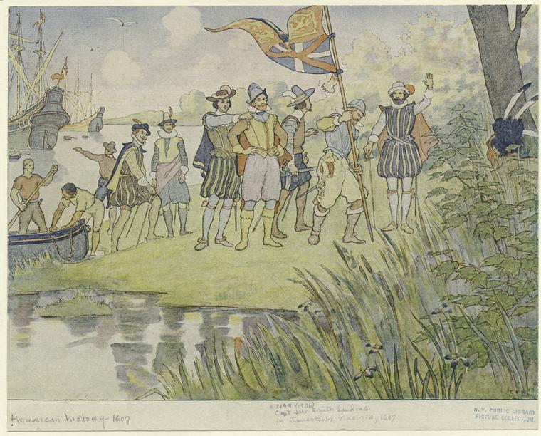 John Smith komt aan in Jamestown (1607)
