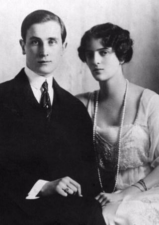 Felix Joesoepov en zijn vrouw Irina in 1915