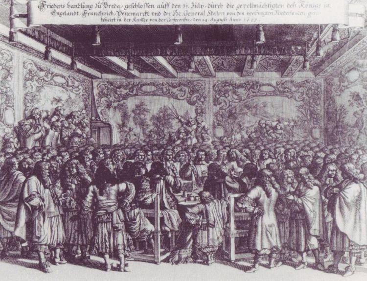 De vredessluiting op 31 juli 1667