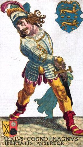 Prent van Grutte Pier in een zeventiende-eeuws boek