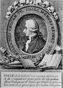 Jan Frans Vonck, een van de leiders van de Brabantse Omwenteling