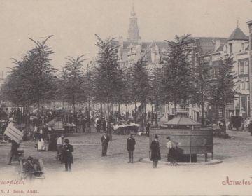 Oude kaart van het Waterlooplein