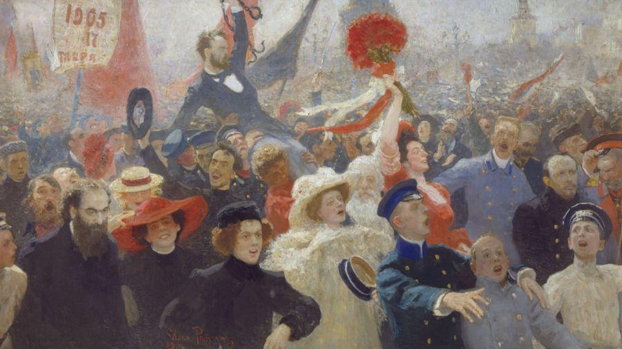 Gejuich na de afkondiging van het Oktobermanifest, door Ilja Repin