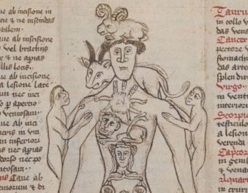 Afbeelding uit het manuscript (British Library)
