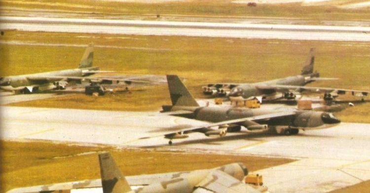 B-52 bommenwerper op de Andersen Air Force Base op Guam (wiki)