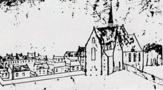 Kapel en klooster van Scheut. Schets van Everaert uit 1735