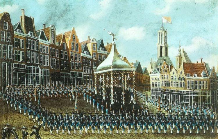 Patriotten op de Neude in 1786 (cc - Centraal Museum)