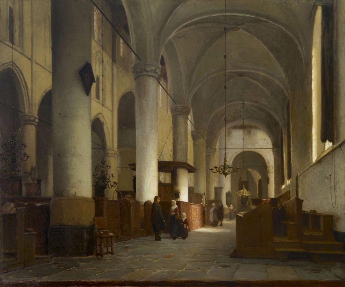 Interieur van de Grote Kerk te Naarden - Jan Jacob Schenkel (Grote Kerk Naarden)