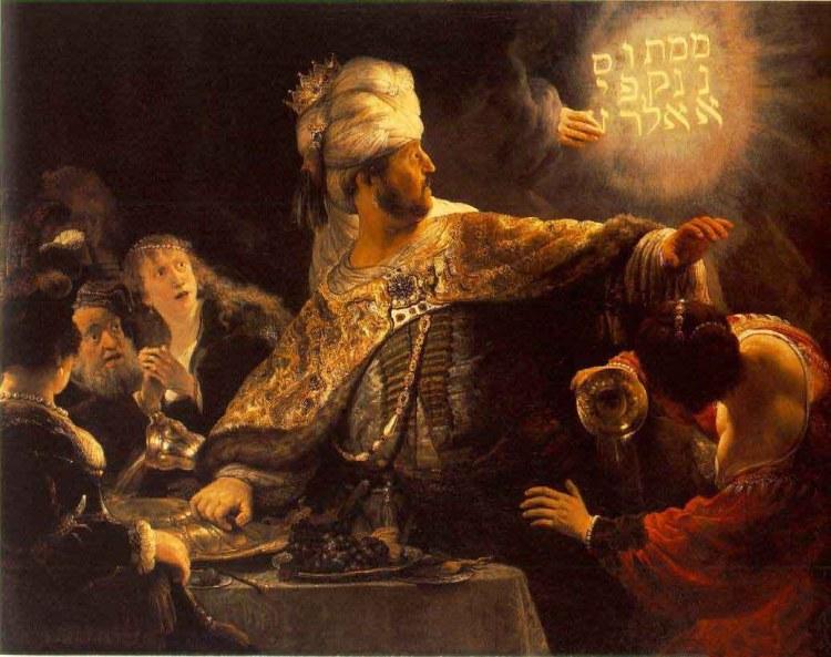 Rembrandt - Het feestmaal van Belsassar