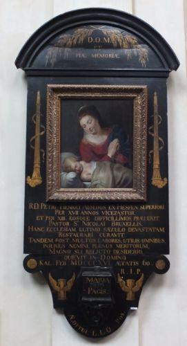 De Maagd met het Slapende Kind, toegeschreven aan (een leerling van) Peter Paul Rubens in de St-Niklaaskerk in Brussel - cc