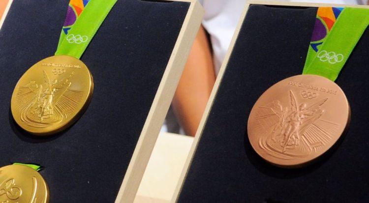 Afbeelding van de godin op de medaille van de Olympische Spelen van 2016 (cc - Tomaz Silva/Agência Brasil)