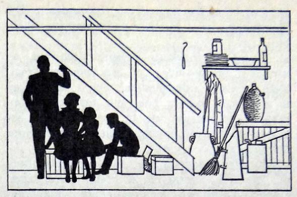 Als de bom valt kan je het best met je gezin onder de keldertrap gaan zitten