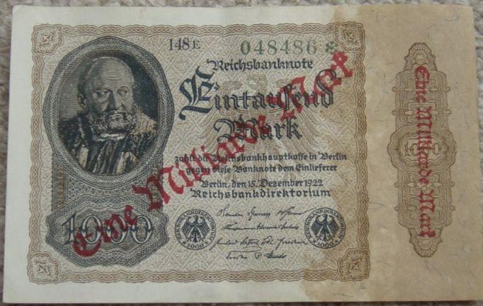 1.000.000.000 mark uit 1923 - cc