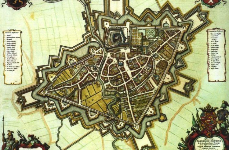 Breda in 1653 volgens Willem en Joan Blaeu