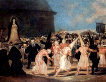 Flagellanten door Francisco de Goya