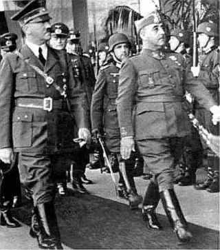 Franco en Hitler in Hendaya 1940