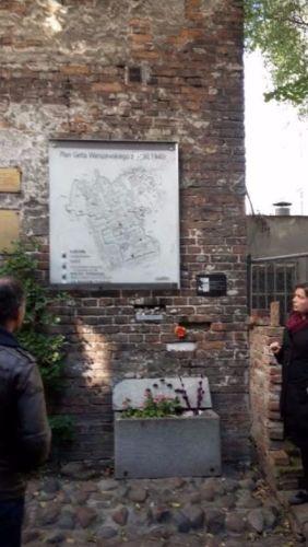 Overgebleven muurdeel van het getto van Warschau