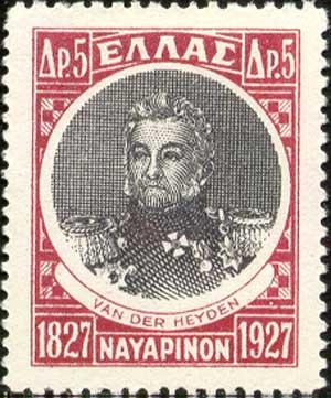 Postzegel met daarop de beeltenis van Lodewijk van Heiden