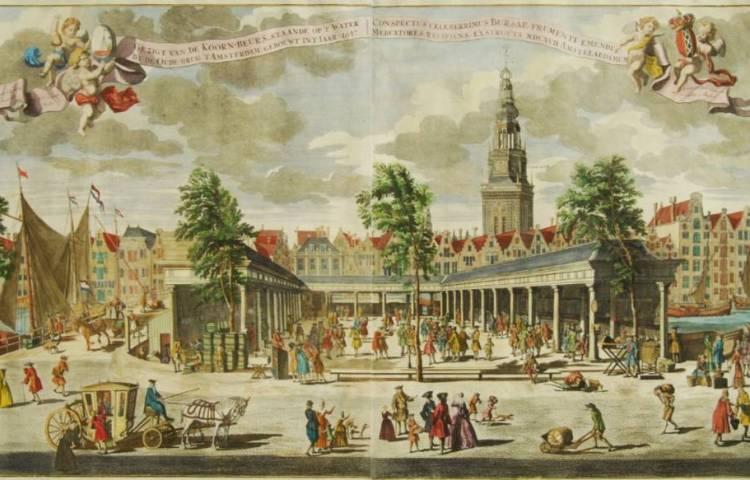 Stapelmarkt - Korenbeurs in Amsterdam