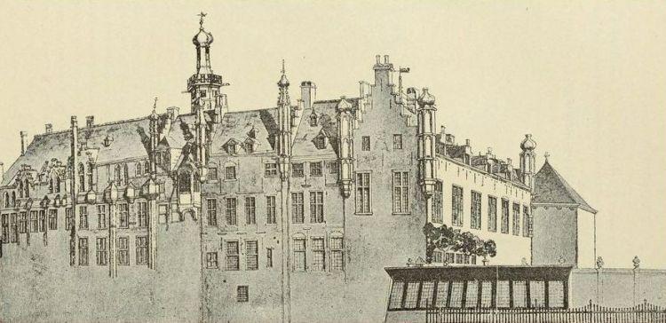Zicht vanuit de Ruisbroekstraat (F.J. Derons, 1759) - wiki