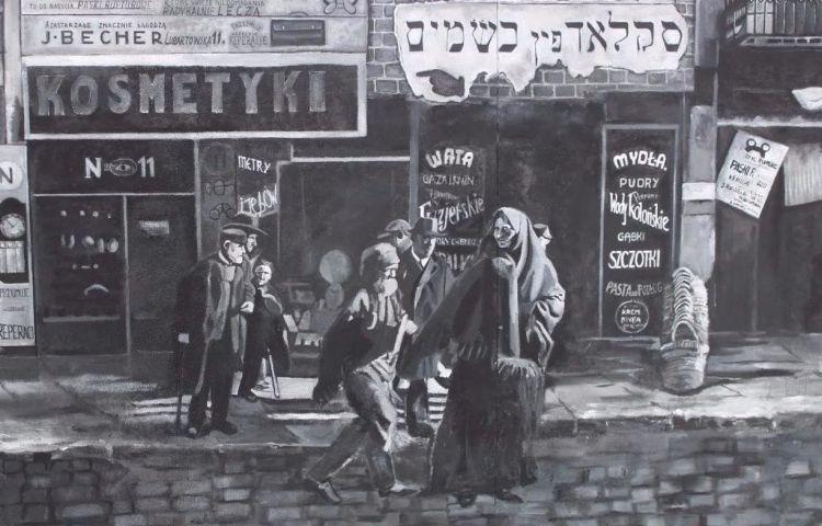 Graffiti-art in Lublin om de herinnering aan het Joods leven in de stad levend te houden