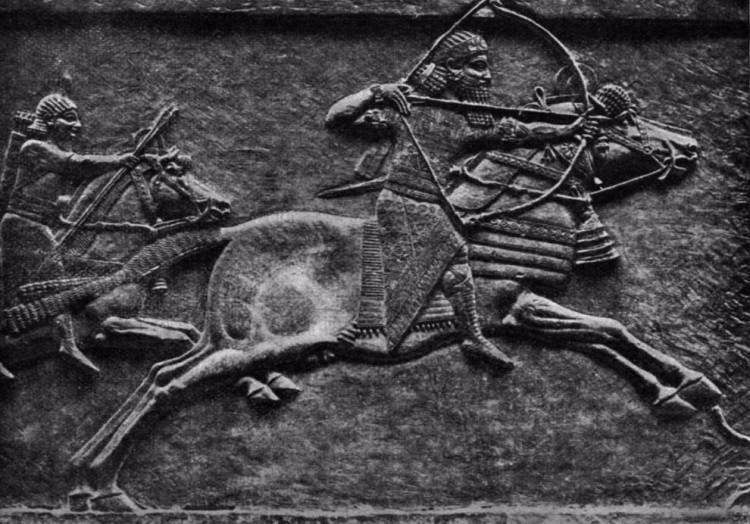 Assoerbanipal op jacht. British Museum