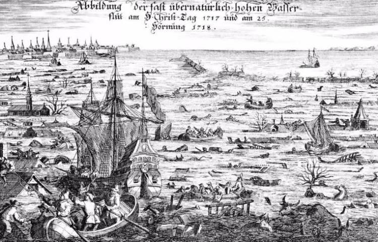 De Kerstvloed van 1717 - Tragedie en heldenmoed