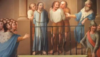 Jezus en Barabbas voor Pilatus (cc- Museum Guadalupe)