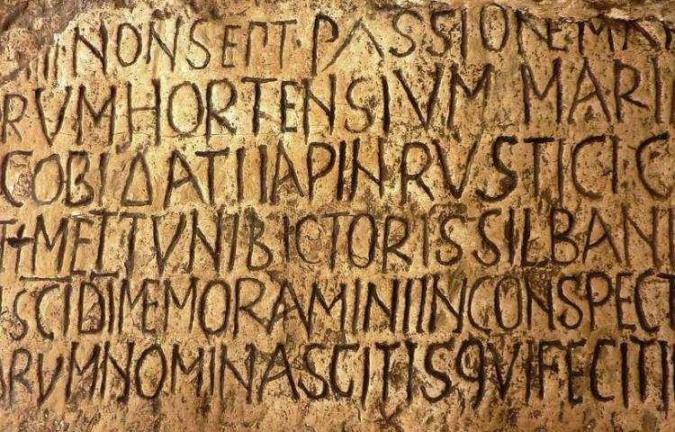 Latijnse tekst (cc - Pixabay - jillmackie)