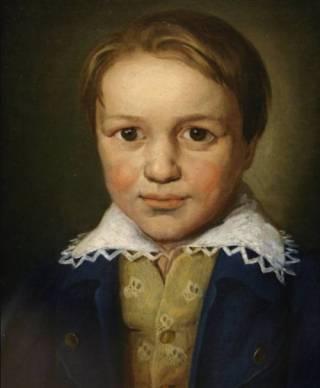 Portret van de dertienjarige Beethoven, onbekende meester uit Bonn (ca. 1783)
