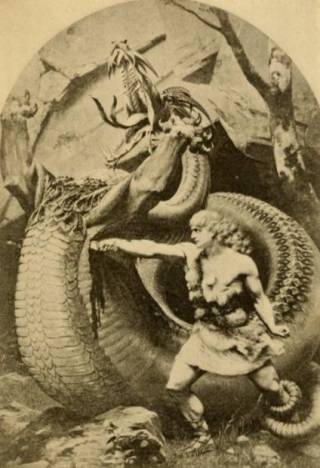 Siegfried de drakendoder (cc - Old Norse stories, 1900)