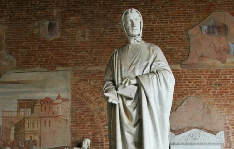 Standbeeld van Fibonacci op het Camposanto van Pisa - cc