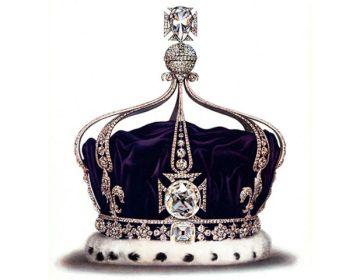 De Koh-I-Noor in de kroon van Mary van Teck