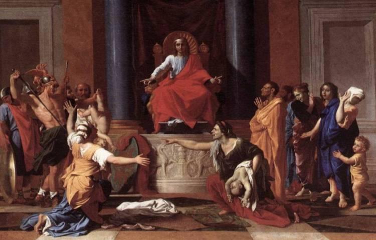 Het Salomonsoordeel - Nicolas Poussin