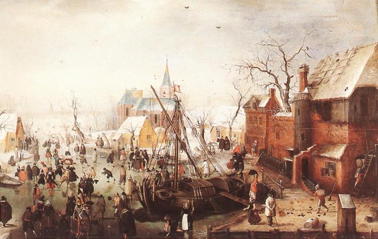 Winterlandschap bij IJsselmuiden. 1600-1634 (Musée d'Art et d'Histoire., Genève)
