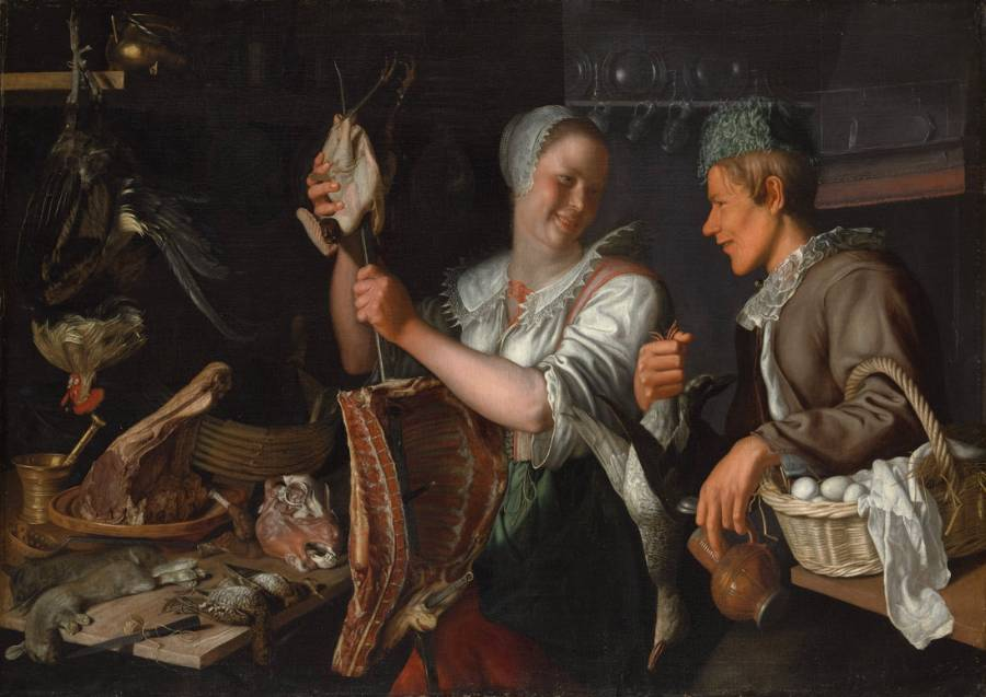 'Keukenscene' van Peter Wttewael  (The Metropolitan Museum of Art)